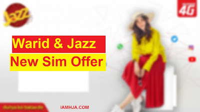 Warid and Jazz New Sim Offer 1