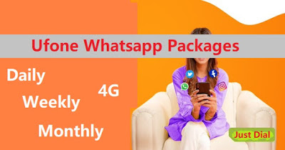 Ufone Whatsapp Packages - Daily, Weekly, Monthly, Free 1