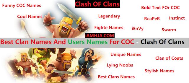 1500+ Best PUBG, COD, COC & Clan Names+UserNames 1