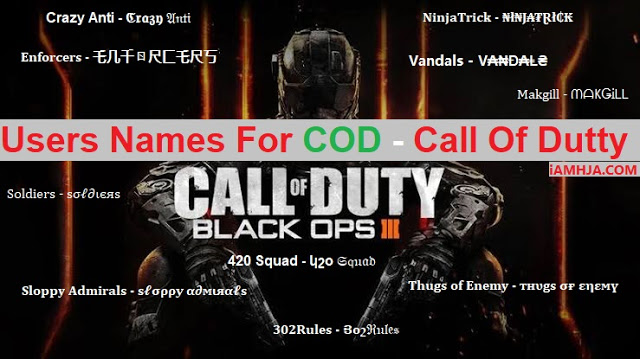 Best Name For Call Of Duty
