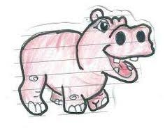 Hippo - Step by Step Guide to Draw