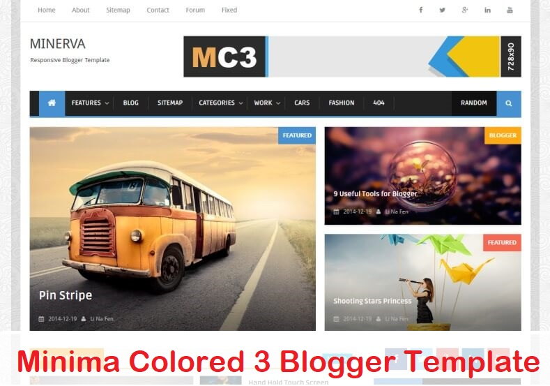 Minima Colored 3 Blogger Template
