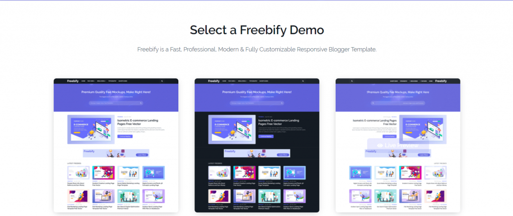 freebify blogger template
