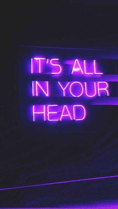 It's All In Your Head aesthetic wallpaper