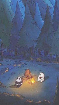 Animated Persons Enjoying Midnight Aesthetic Wallpaper