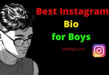 Best Instagram Bio for Boys