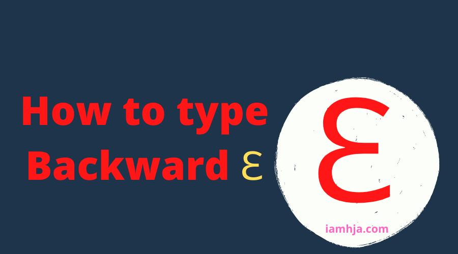"Backwards 3 ""Ɛ"""