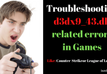 Troubleshooting d3dx9_43.dll related errors