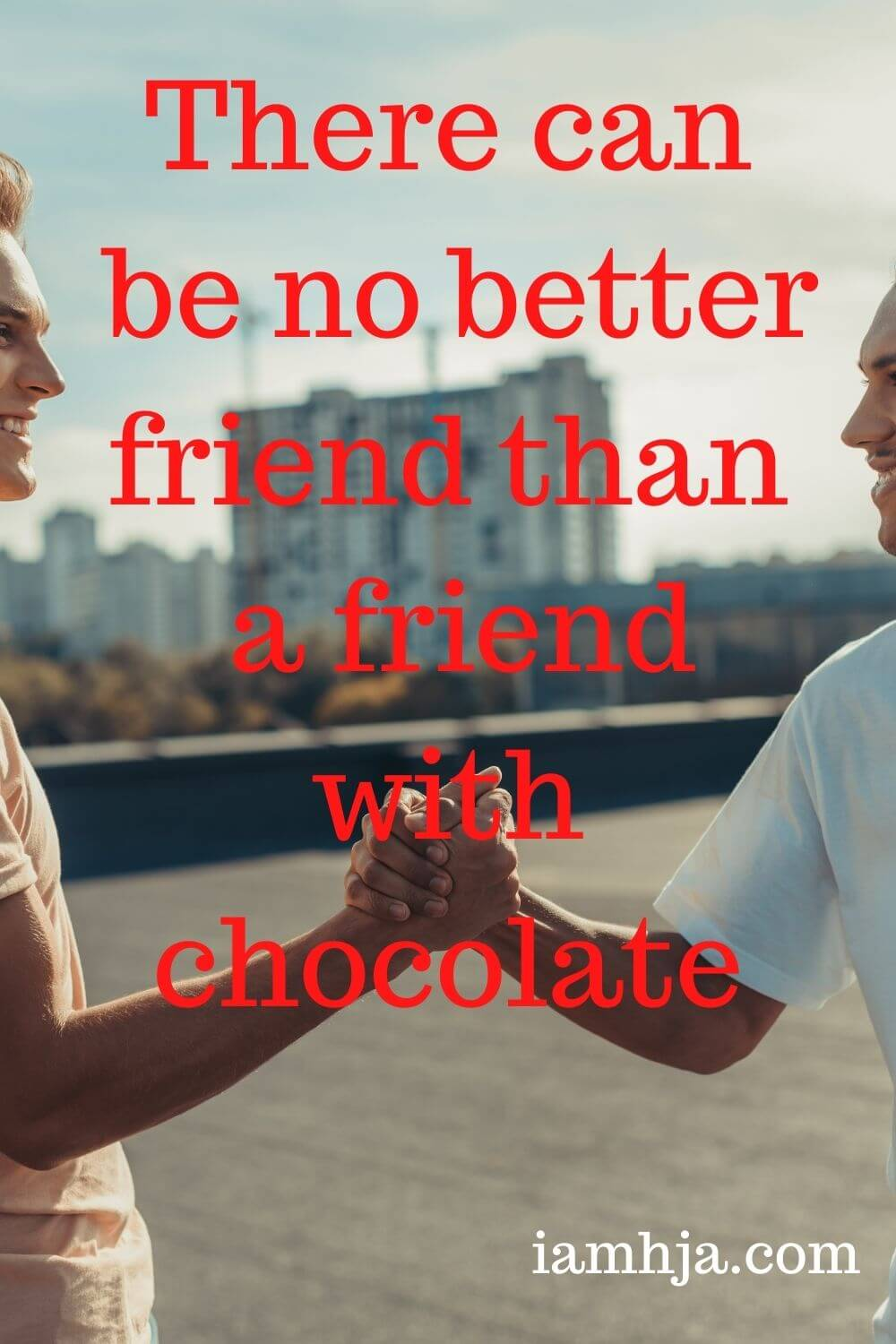 There can be no better friend than a friend with chocolate