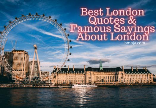Best London Quotes