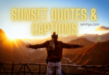 Sunset Quotes & Captions