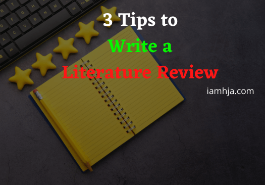 Tips Write a Literature Review
