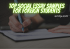 Top Social Essay Samples for Foreign Students
